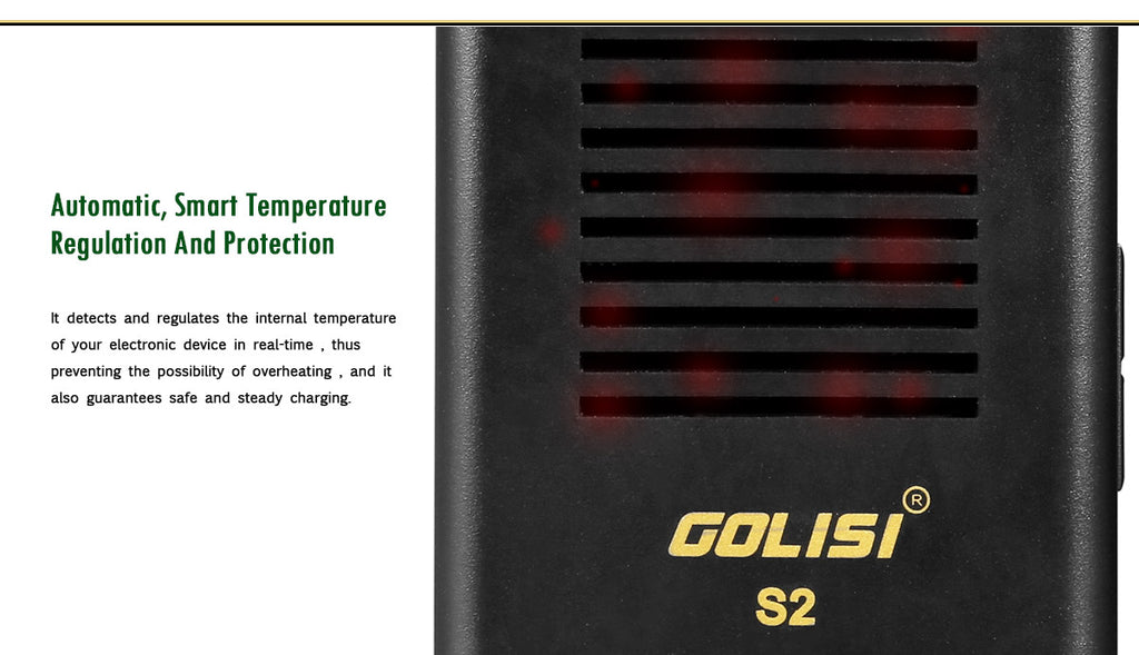 Golisi S2 Charger with LCD Screen 2A Smart Adjustable
