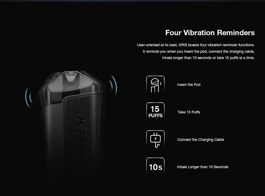HCIGAR KRIS Pod System Starter Kit 650mAh 2ml Four Vibration Reminders