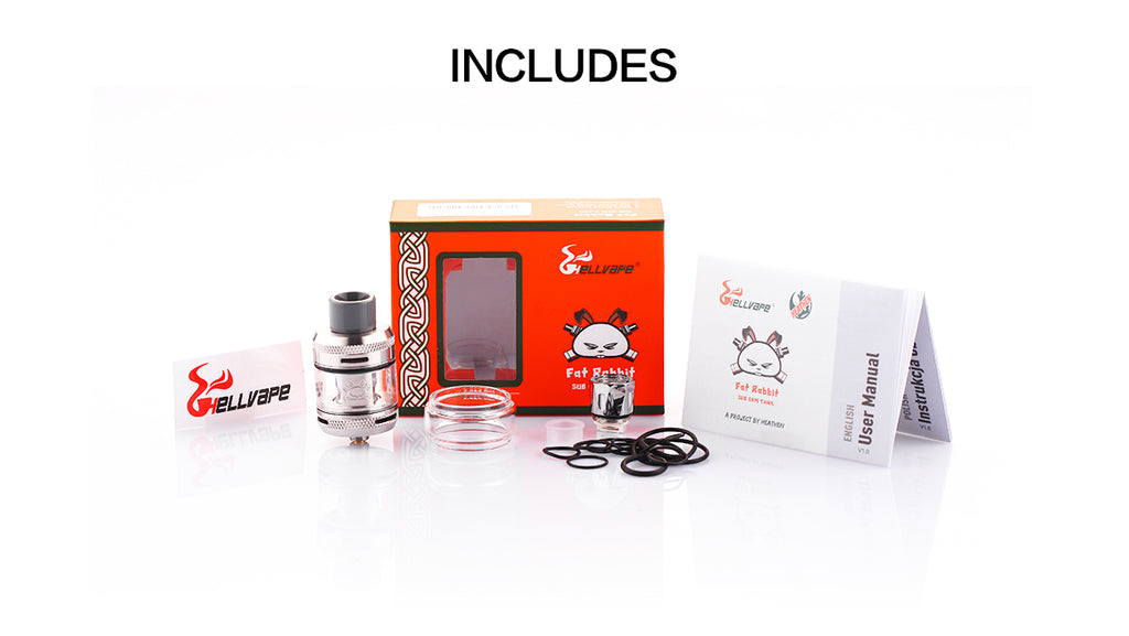Hellvape Fat Rabbit Sub Ohm Tank Kit Includes