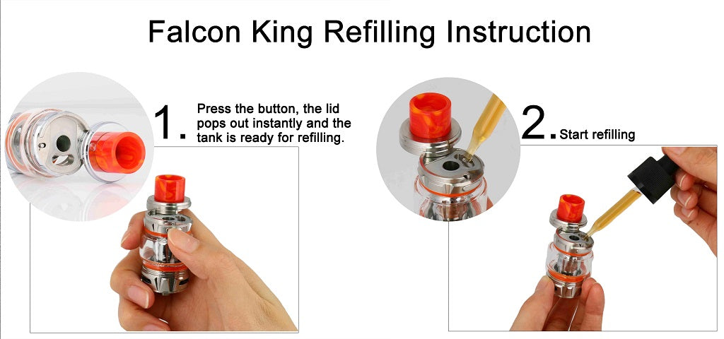 Horizon Falcon King Tank 6ml Refilling Instructions