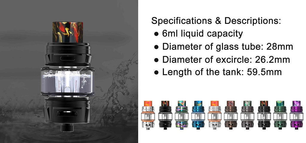 Horizon Falcon King Tank 6ml Specifications & Descriptions