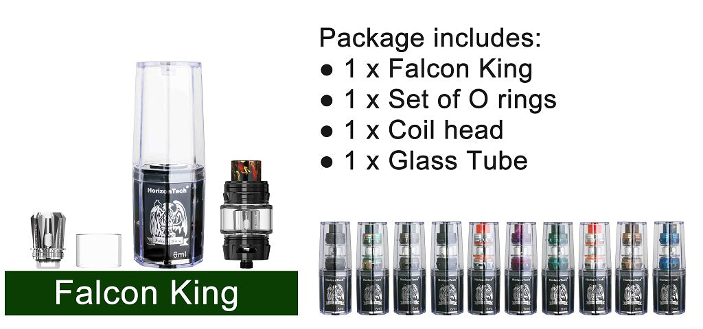 Horizon Falcon King Tank 6ml Package Includes