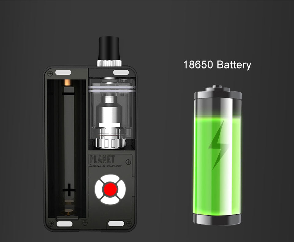 Hugo Vapor Planet Vape Pod System Starter Kit 18650 Battery