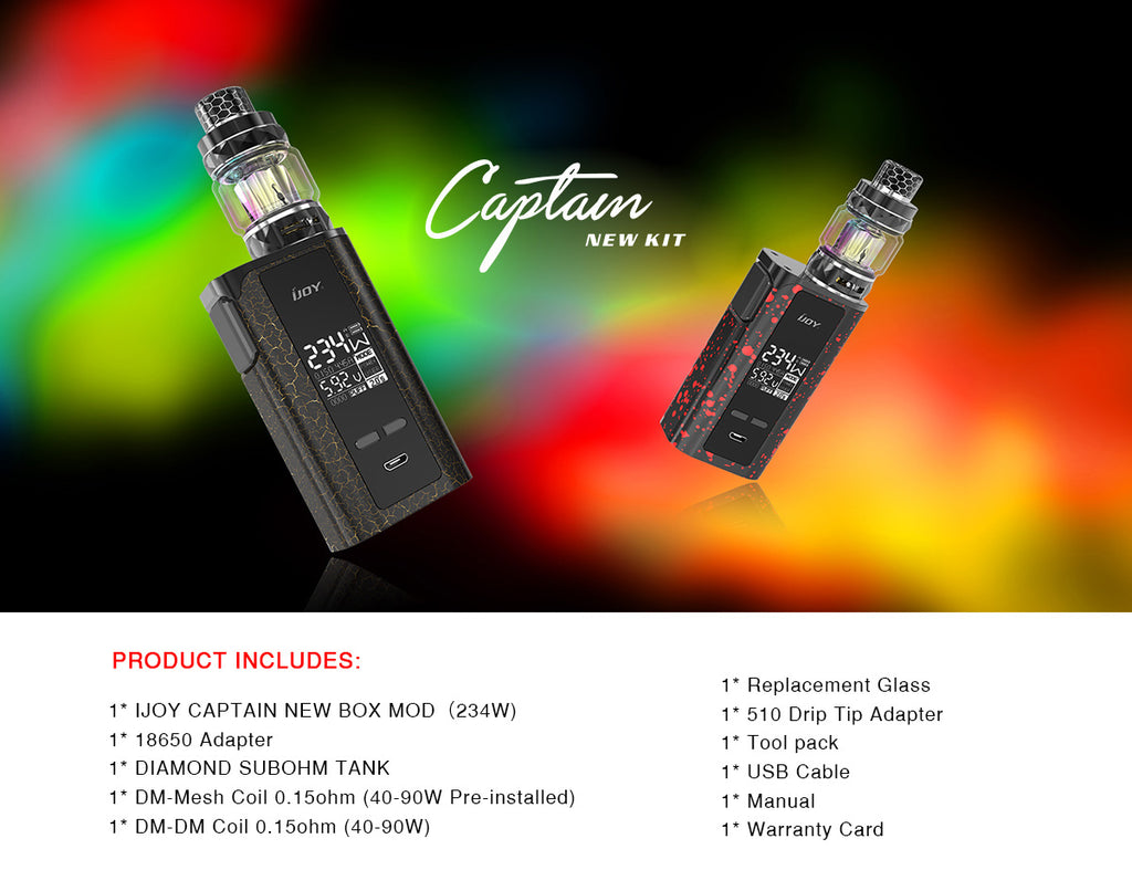 IJOY Captain PD270 TC Mod Kit Product Includes