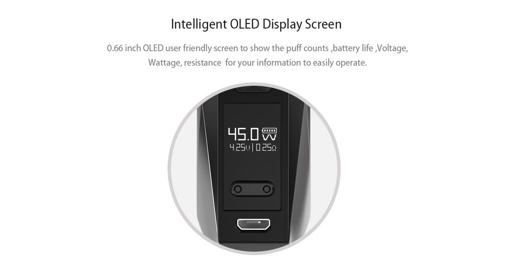 IJOY Diamond VPC Vape Pod System Screen