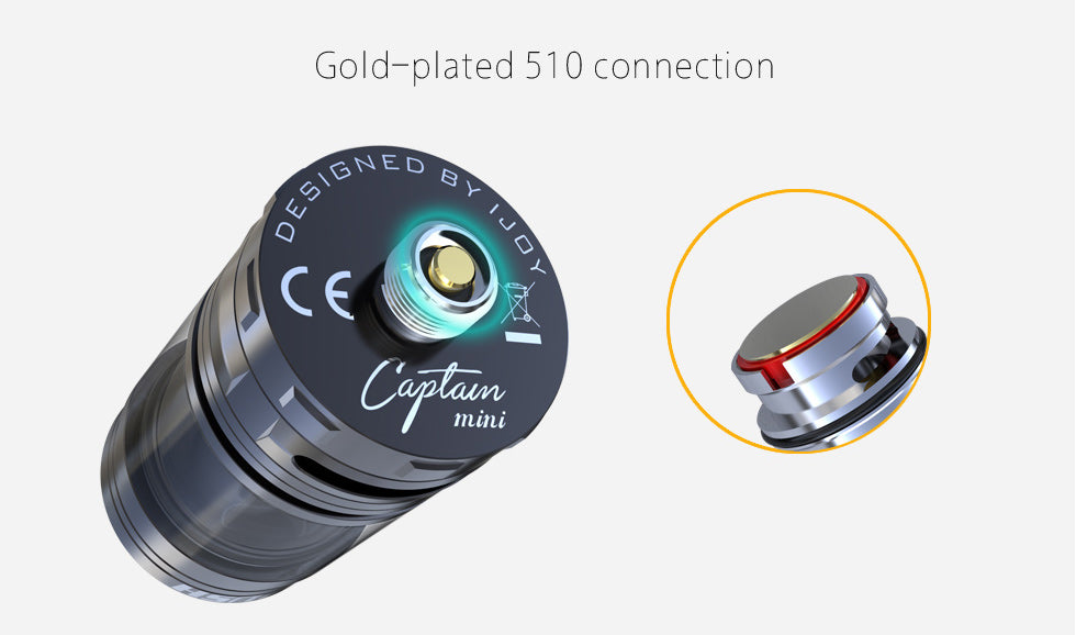 IJOY Captain Mini Tank Gold-plated 510 Connection