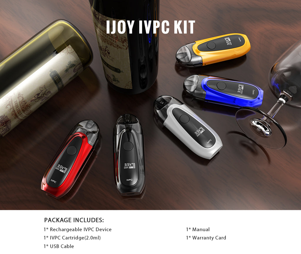 IJOY IVPC Vape Pod System Product Includes