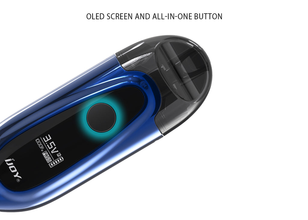 IJOY IVPC Pod System Starter Kit 450mAh 2ml LED Screen And All-in-one Button