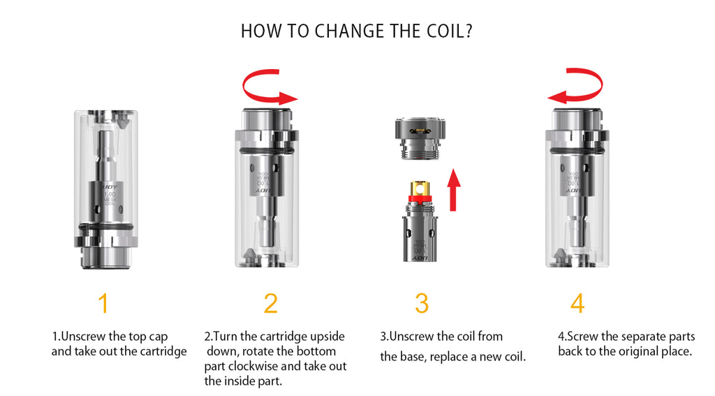 IJOY Mercury Vape Pod System Change The Coil