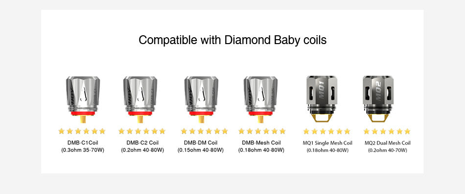 Compatible with Diamond Baby Coils