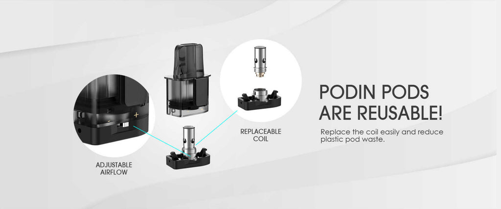 Innokin Podin Pod Cartridge Are Reusable