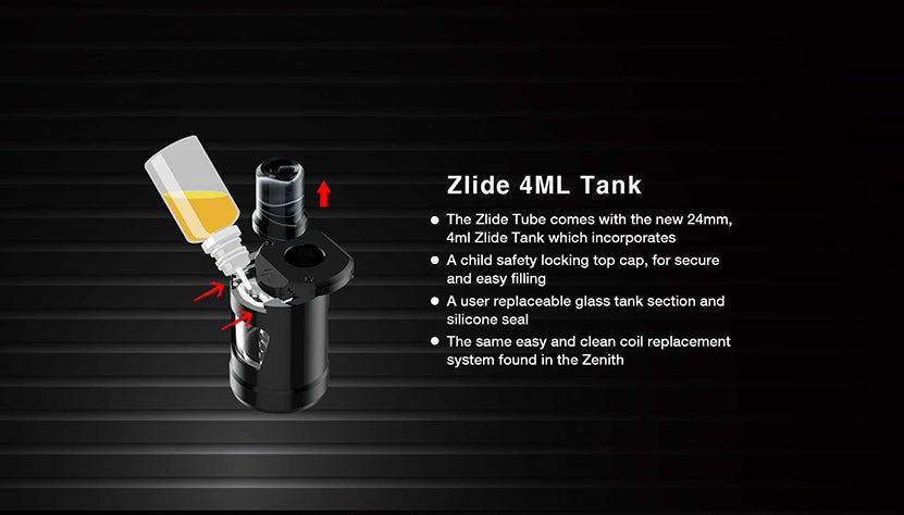 Innokin Zlide Tube Vape Pen Starter Kit 3000mAh 4ml Tank