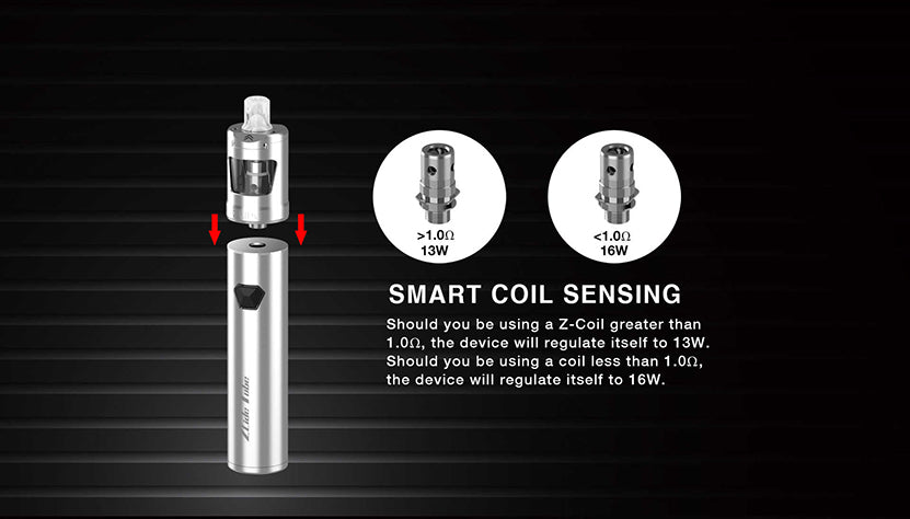 Innokin Zlide Tube Vape Pen Starter Kit 3000mAh 4ml Smart Coil Sensing