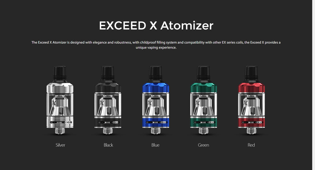Joyetech Exceed X Atomizer 1.8ml 19mm 5 Colors Available