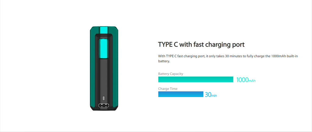 Joyetech Exceed X VW Mod Kit 1000mAh 1.8ml Charging Fast