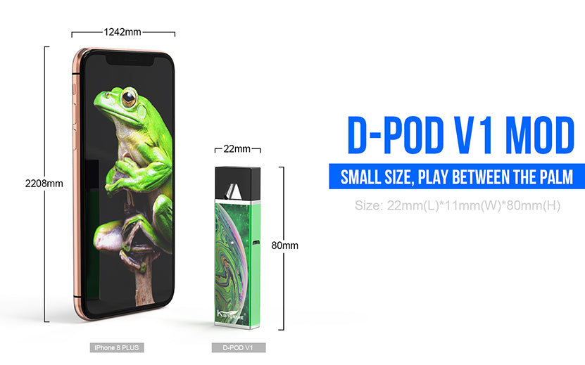 Kangvape D-pod V1 VV Mod Kit 400mAh 0.7ml Small Size