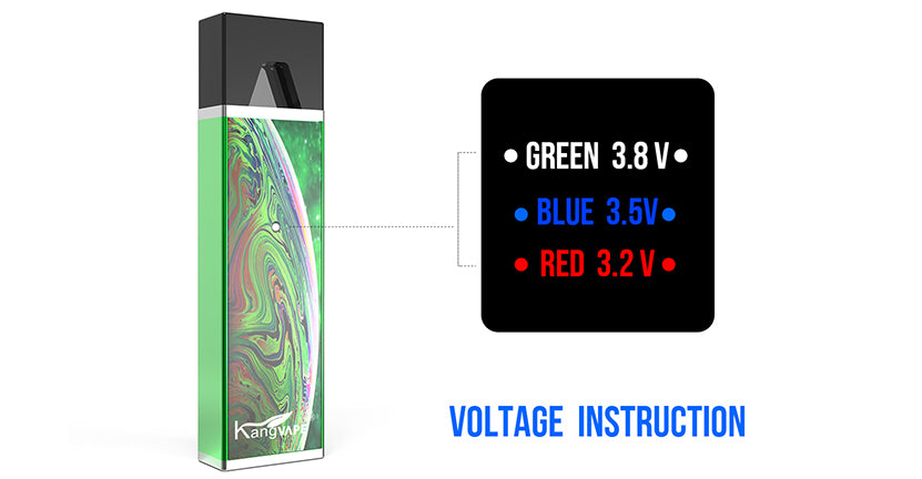 Kangvape D-pod V1 VV Mod Kit Voltage Instruction 400mAh 0.7ml