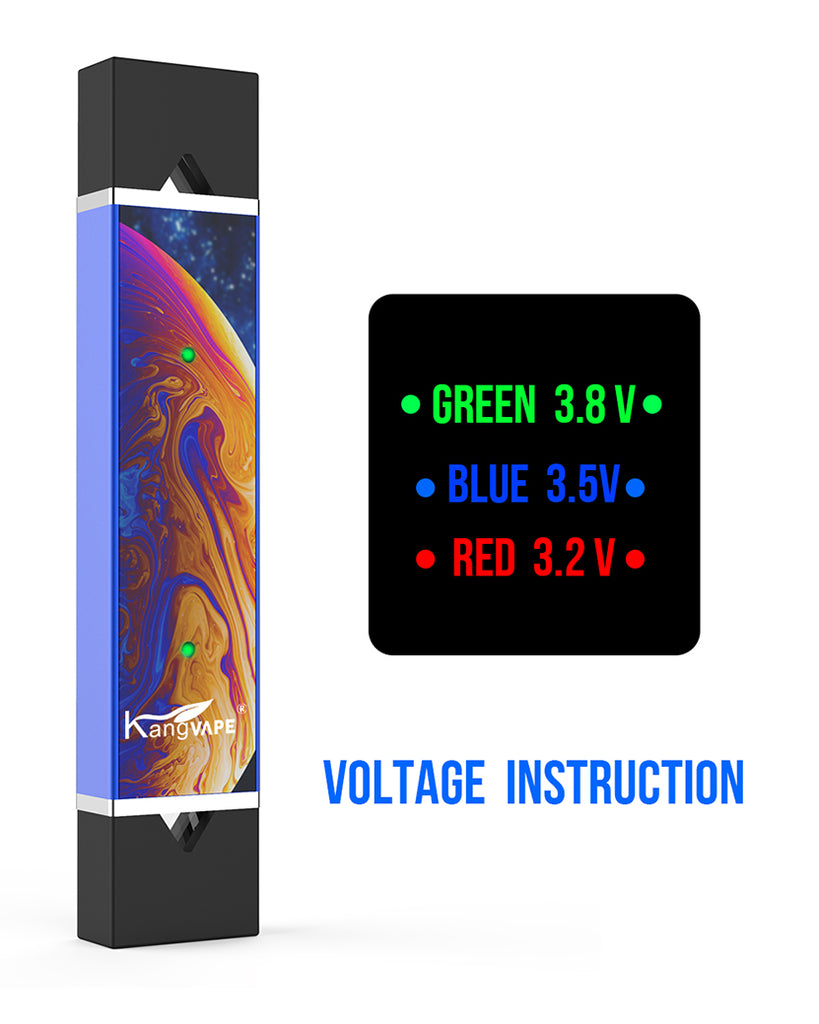 Kangvape D-pod V2 VV Mod Kit Voltage Instruction 400mAh 0.7ml