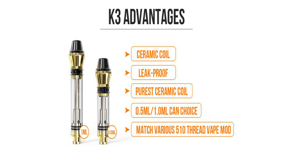 Kangvape K3 Atomizer 0.5ml / 1.0ml 1.2ohm Advantages