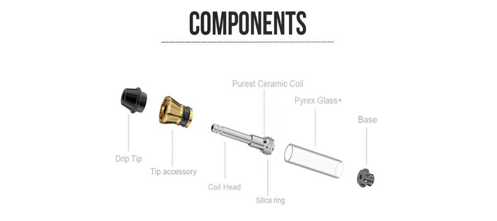 Kangvape K3 Atomizer 0.5ml / 1.0ml 1.2ohm Components