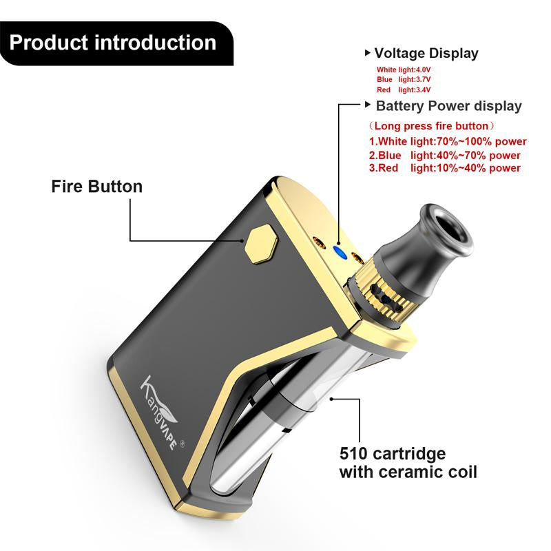 Kangvape Mini K VV Box Mod Kit 400mAh 0.5ml Introduction