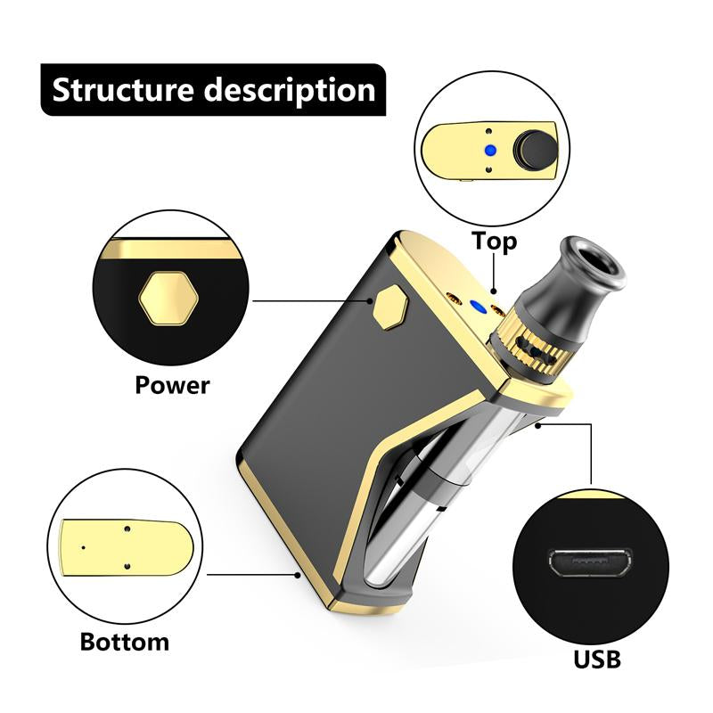 Kangvape Mini K VV Box Mod Kit 400mAh 0.5ml Structure Description