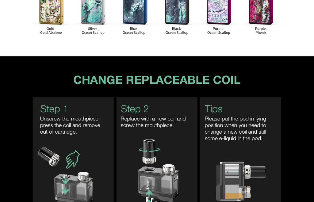 Change Replaceable Coil