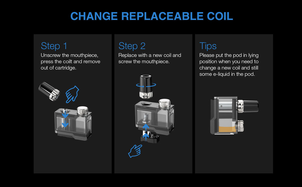 Change Replaceable Coil Step