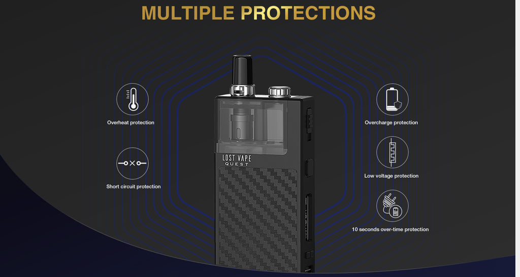 Lost Vape Q-ULTRA 40W Pod System VW Starter Kit Multiple Protection