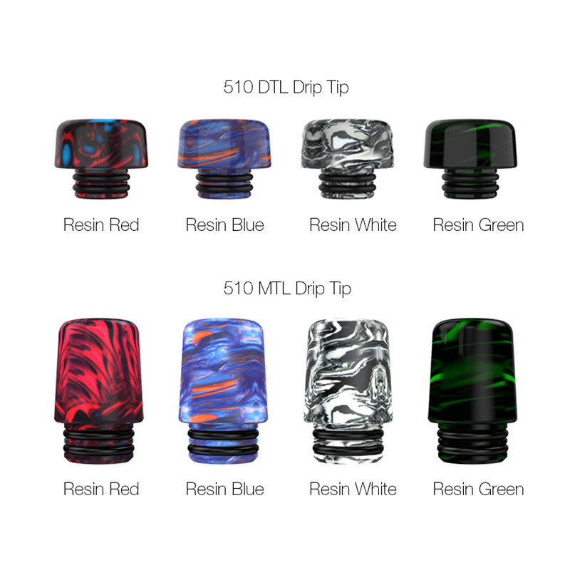MECHLYFE 510 MTL / DL Resin Drip Tip Colors Optional