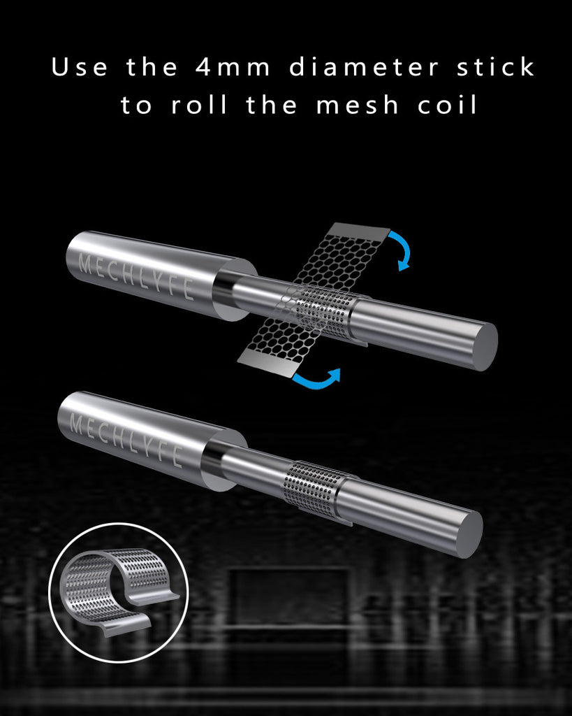 Use The 4mm Diameter Stick To Roll The Mesh Coil