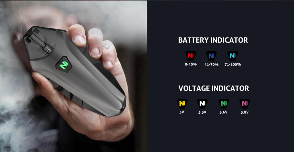 Nikola Delorean Vape Pod System VV Starter Kit 350mAh 1.2ml Battery & Voltage Indicator