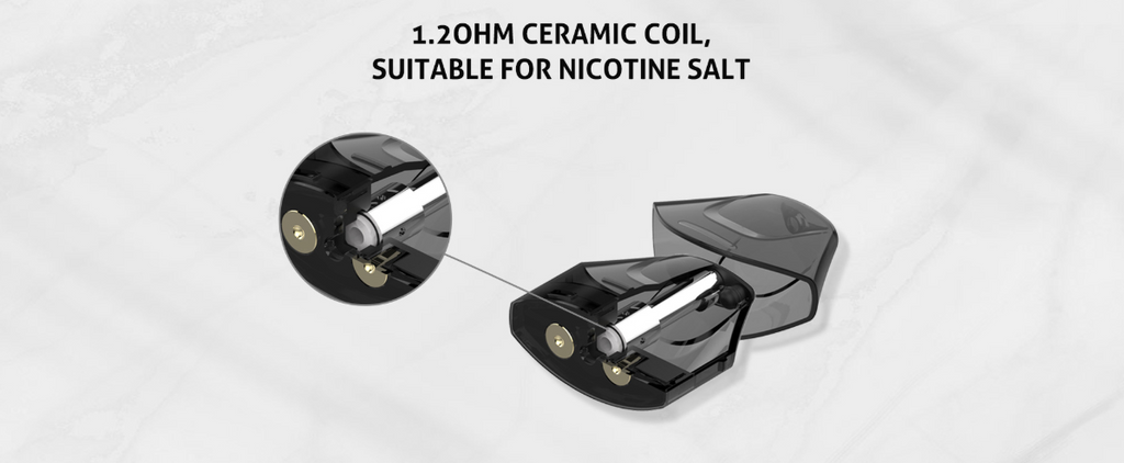 Nikola Delorean Vape Pod System VV Starter Kit 350mAh 1.2ml Ceramic Coil