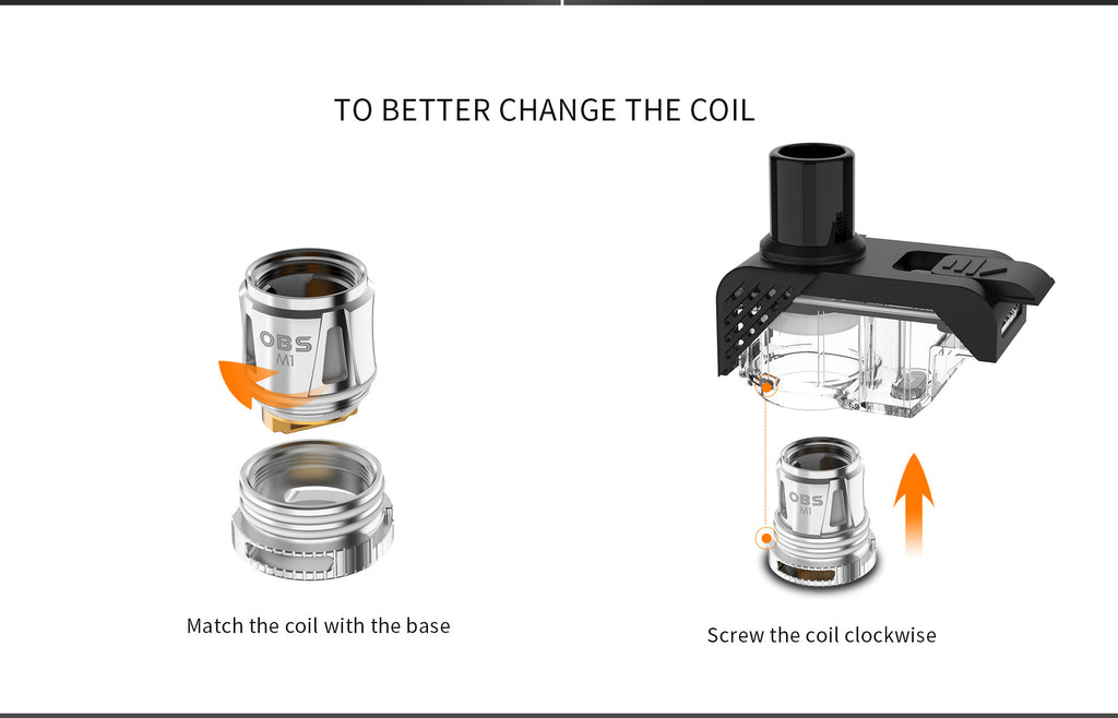OBS Alter Vape Pod System To Battery Change The Coil