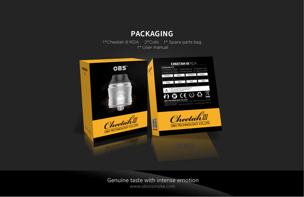 OBS Cheetah III RDA Package Contents