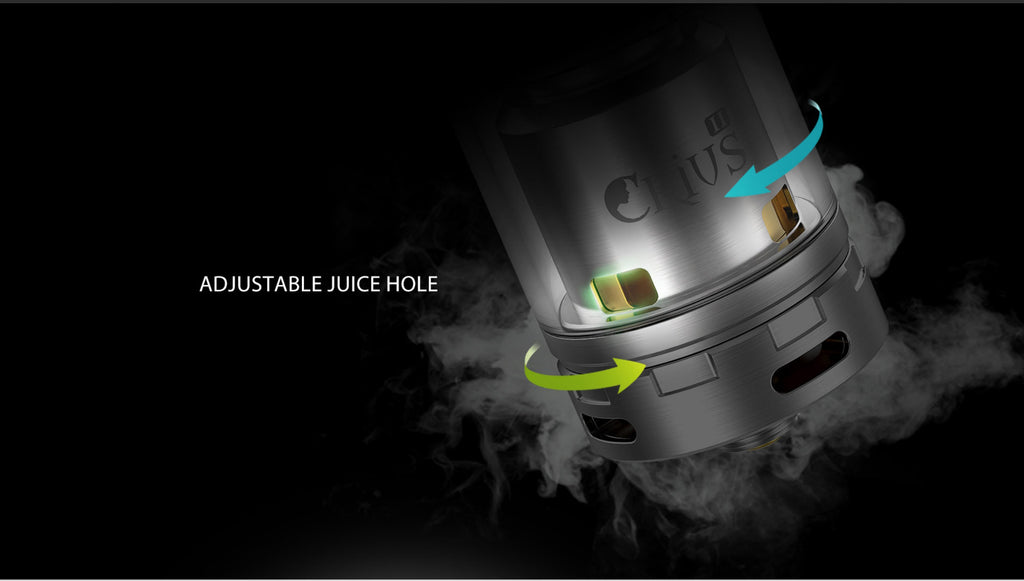OBS Crius II RTA Daul Coil Version 4ml Adjustable Juice Hole