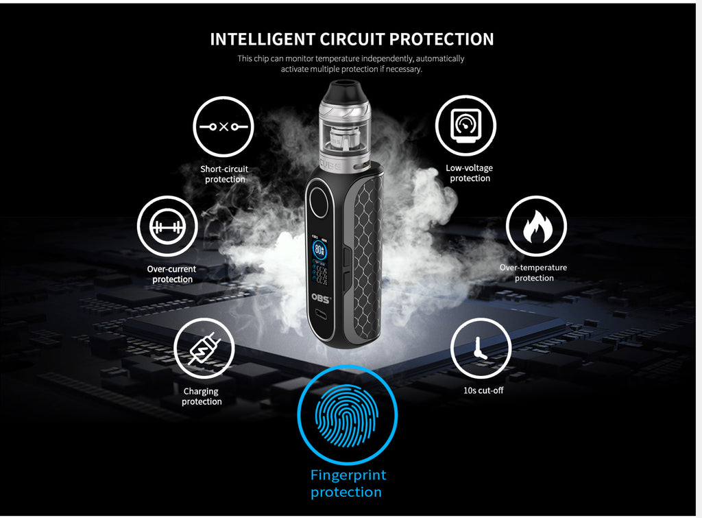 OBS Cube FP VW Mod Kit Fingerprint Unlock 80W 4ml Multiple Protection