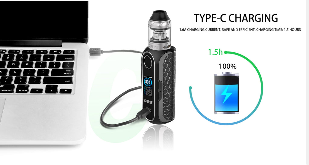 OBS Cube FP VW Mod Kit Fingerprint Unlock 80W 4ml Type-C Charging