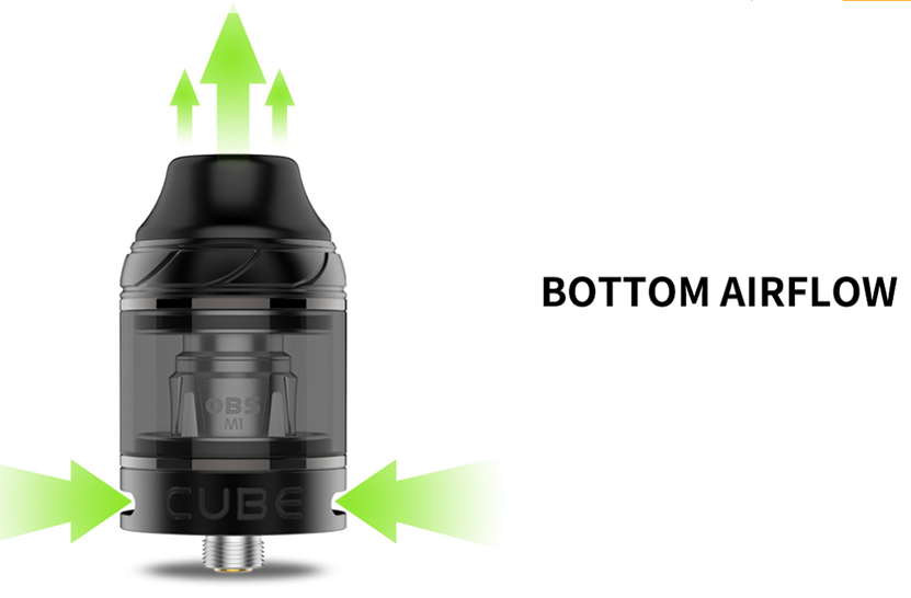 OBS Cube Mesh Tank 4ml Bottom Airflow
