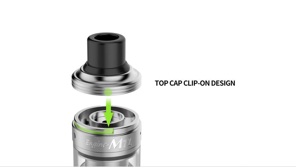 OBS Cube VW Engine MTL RTA Top Cap Clip-On Design