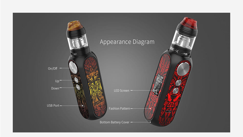 OBS Cube X VW Mod Kit 80W Appearance Diagram