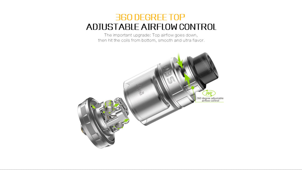 OBS Engine II RTA 360 Adjustable Airflow Control