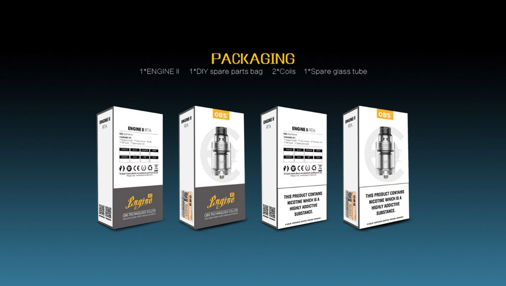 OBS Engine II RTA 5ml Package Includes