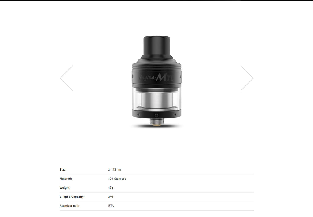 OBS Engine MTL RTA Specifications
