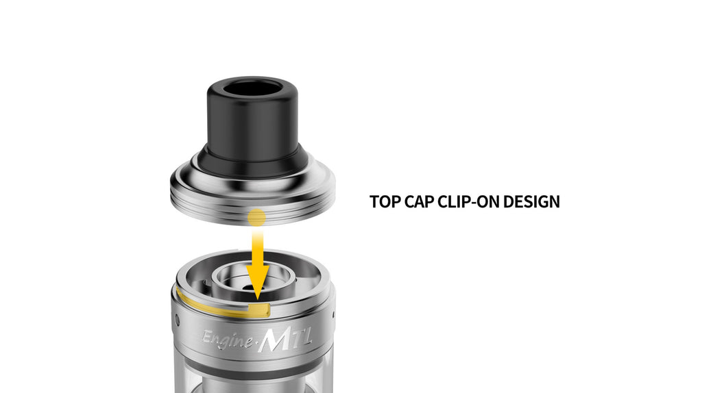 OBS Engine MTL RTA Top Cap Clip-On Design