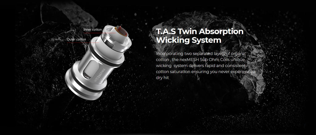 OFRF NexMESH Sub-Ohm Tank Twin Absorption Wicking System