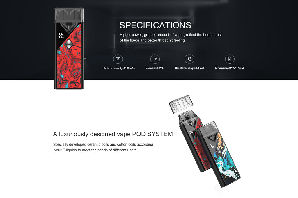 OVNS Imagin Pod Kit 1100mAh Specifications