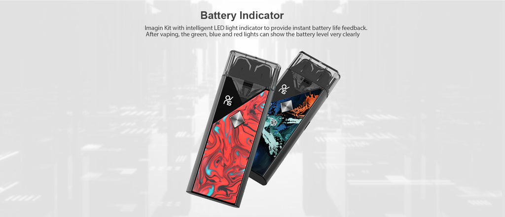 OVNS Imagin Pod Kit 1100mAh Battery Indicator