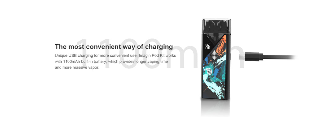 OVNS Imagin Pod Kit 1100mAh USB Charging