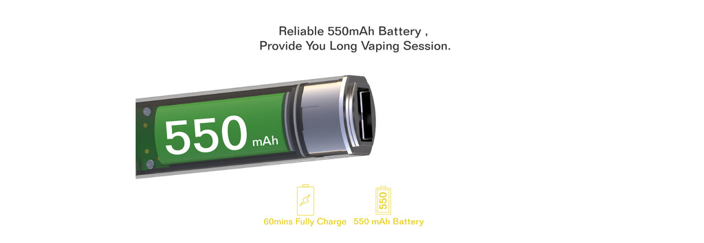 Oumier Flip 2-in-1 Vape Pen Battery 550mAh